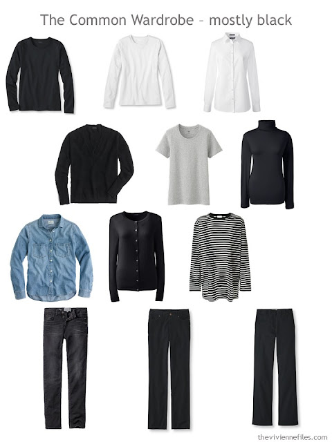 The Common Wardrobe in mostly black