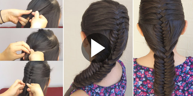How To Create Braid Fish - Combined Spike Hairstyle, See Tutorial