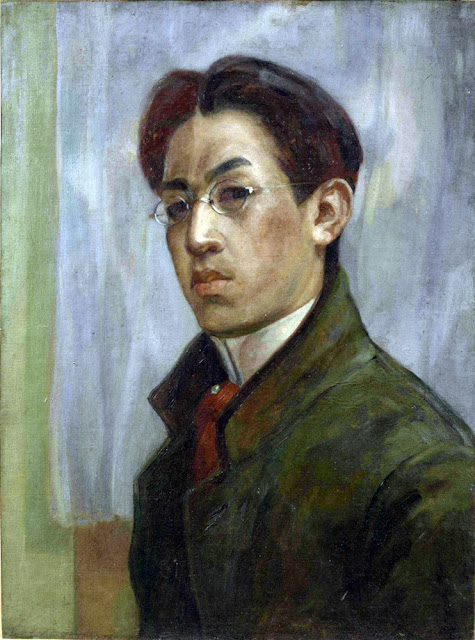 Leonard Tsuguharu Foujita, Self Portrait, Portraits of Painters, Leonard Tsuguharu, Fine arts, Portraits of painters blog, Paintings of Leonard Tsuguharu, Painter Leonard Tsuguharu