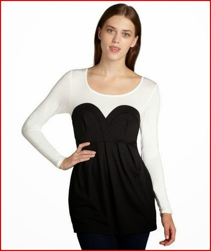 Casual Couture by Green Envelope black and white bustier top