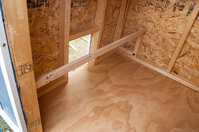 inside finished coop