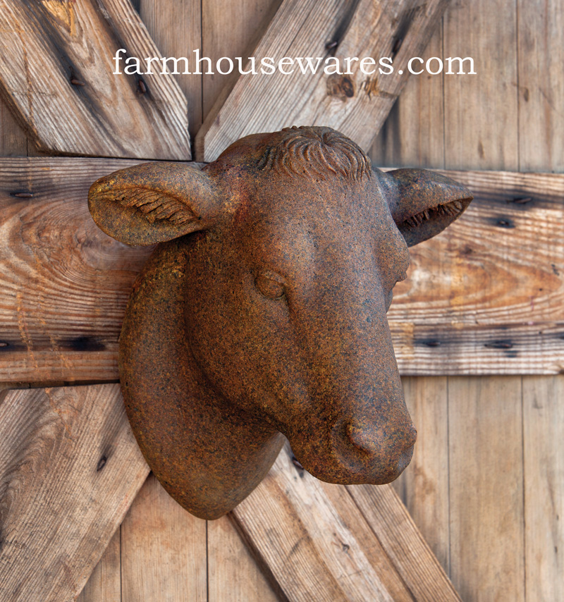 Farmhouse Musings Cow Head Wall Mount