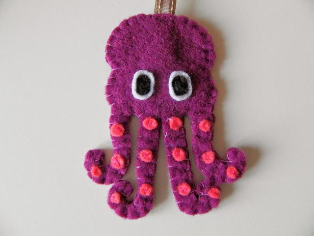 Coton et Création : porte clé poulpe