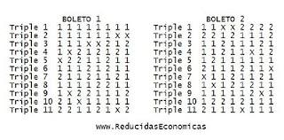 1X2 - Quiniela Reducida de 11 Triples