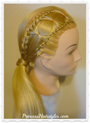 Bow Tie Braid Hairstyle, Video Tutorial.