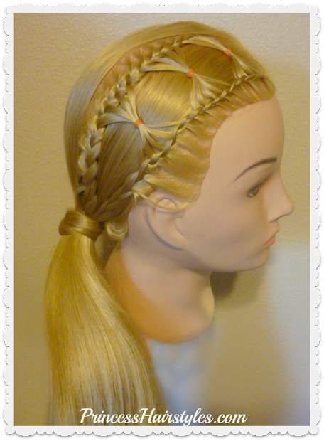 bow tie braid braided hairstyle