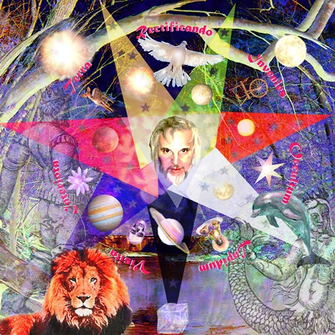 Digital collage after the 12th plate of the Azoth of the Philosophers copyright Dee Rapposelli deerapposelli.com