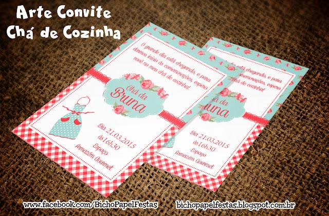 Convite Chá de Cozinha Vintage