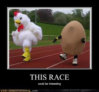 Wie is er het eerst: de kip of het ei?!