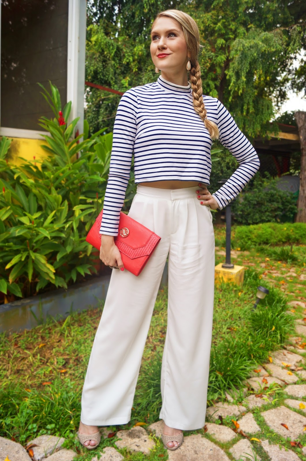 Cute Nautical inspired outfit for Spring