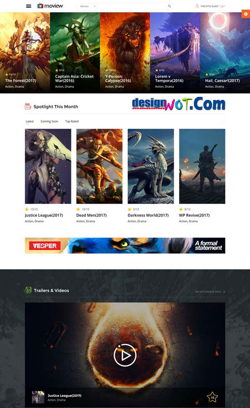 MOVIEW Video Movie WordPress Theme