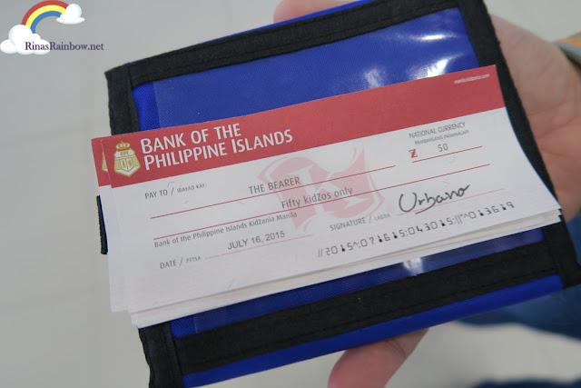 Kidzania Manila BPI Paycheck