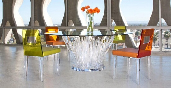 Colored Furniture anti mainstream with lucite transparent furniture + 100 designs