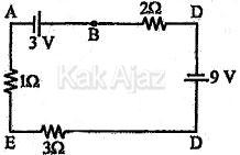 Rangkaian listrik dengan dua sumber tegangan yang searah