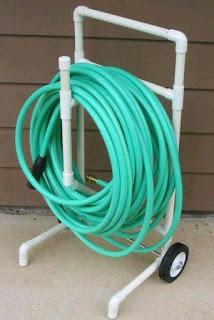 Ideas con tubos de PVC - porta manguera