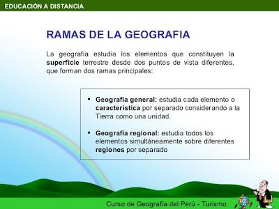 Disciplinas de la geografía