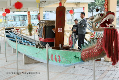 The dragon boat displat at Macau Maritime Museum, Barra Square, macao