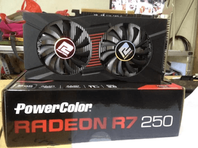 VGA Powercolor Radeon R7 250 2gb GDDR5 OC
