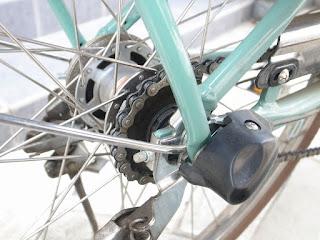 電動アシスト自転車 ヤマハパスのチェーンメンテナンスbefore