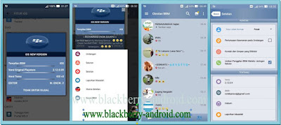 BBM MOD TEMA IOS V3 BASED VERSI 2.12.0.9 APK