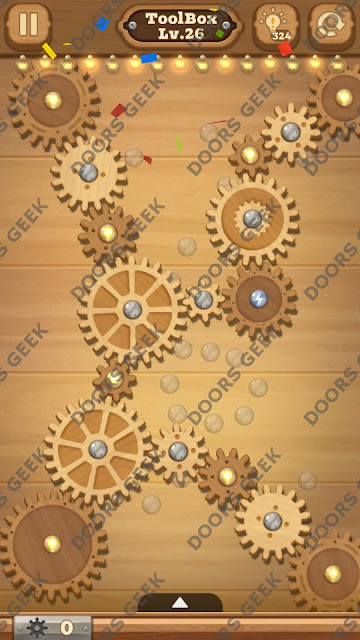 Fix it: Gear Puzzle [ToolBox] Level 26 Solution, Cheats, Walkthrough for Android, iPhone, iPad and iPod