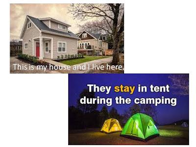 perbedaan kata stay dan live