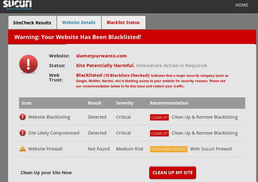 Solusi Mengatasi Situs atau Website terdeteksi Berbahaya di Internet