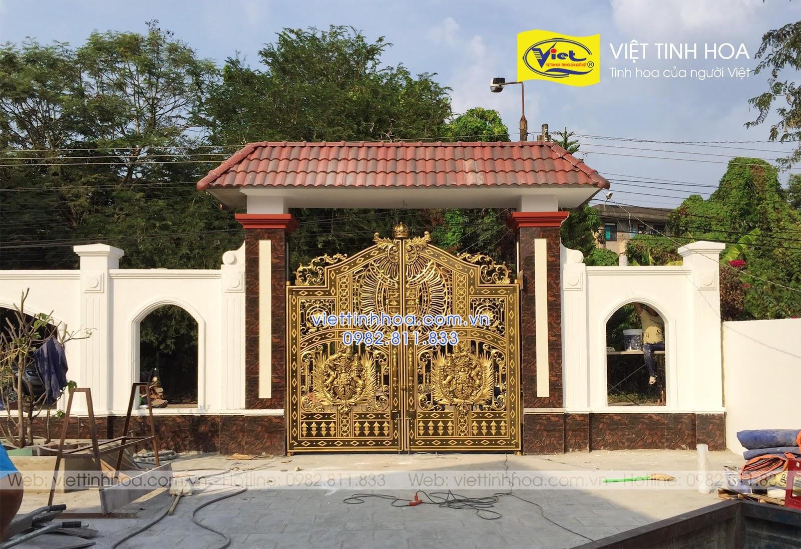 Cổng Nhôm Đúc Can Lộc