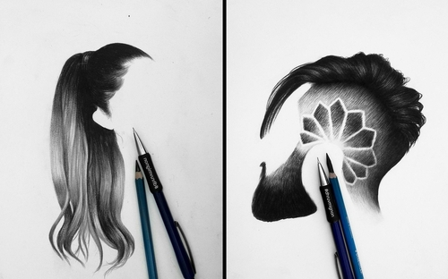 00-dhruvmignon-Minimalist-Realistic-Hair-Study-Drawings-www-designstack-co