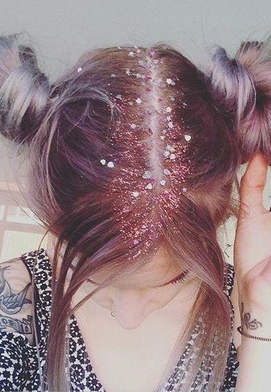 pelo con glitter