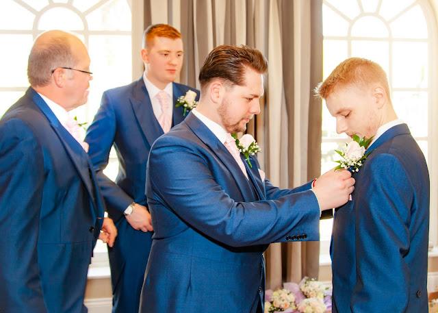 Wedding Ushers getting ready