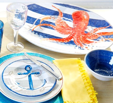Sea Anchor Octopus Dinnerware