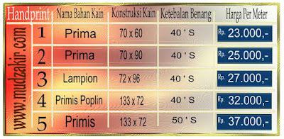 Grosir Kain batik di Bandung jenis printing