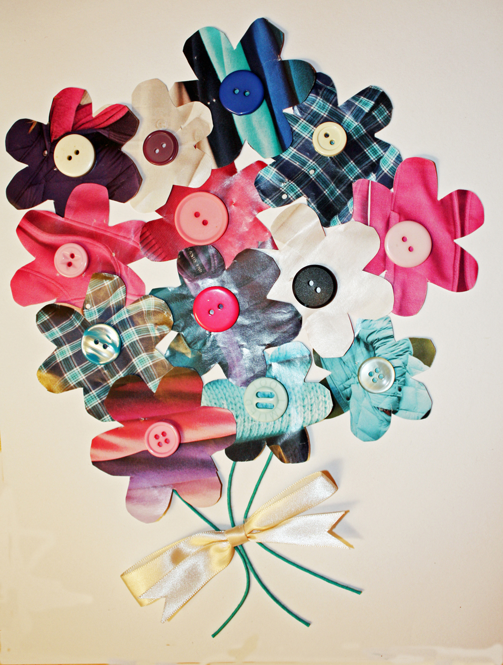 Craft And Activities For All Ages Make A Junk Mail Flower Collage