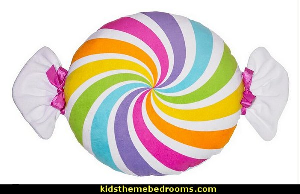 Candy Swirl Pillow  candy Christmas theme decorating - candy themed christmas decorations - christmas candyland decorations -  candy ornaments -  candy shaped holiday ornaments - candy themed Christmas decor -