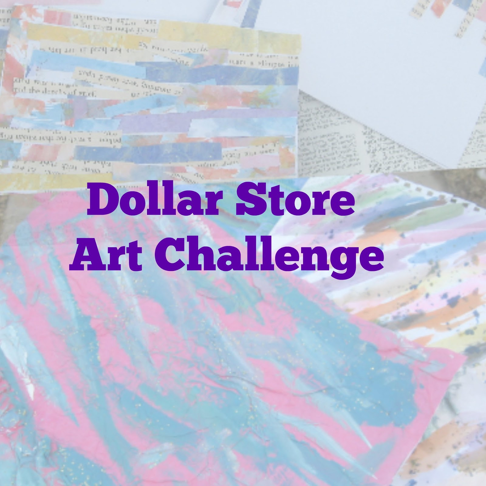 Crafts names and things dollar store art challenge and for Dollar store art