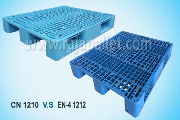 Perbandingan Pallet Plastik CN 1210 VS Pallet Plastik EN-4 1212