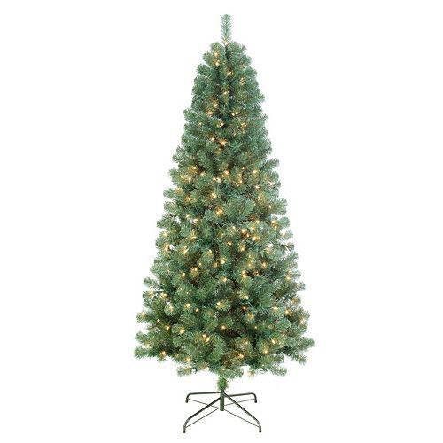Kohls: St. Nicholas Square 7-ft Pre-Lit Artificial Christmas Tree ...