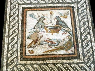Doves (end of the 1st century BC to start of the 1st century AD) Mosaic 45 x 44.3 cm