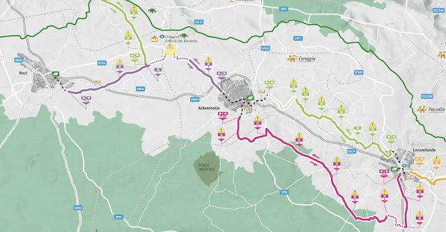 mapa IT 1A Brompton ciclorutas Puglia