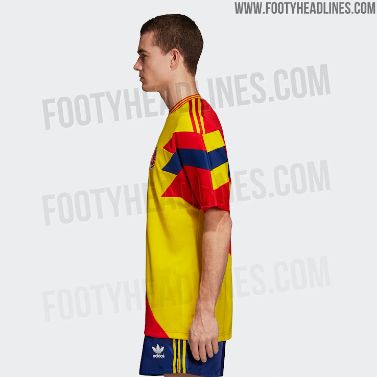 56713a52f The back of the new Adidas Originals 2018 World Cup mash-up shirt comes  with the number 11