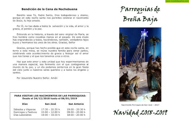Programa Religioso de Navidad 2018-2019 Parroquias de Breña Baja