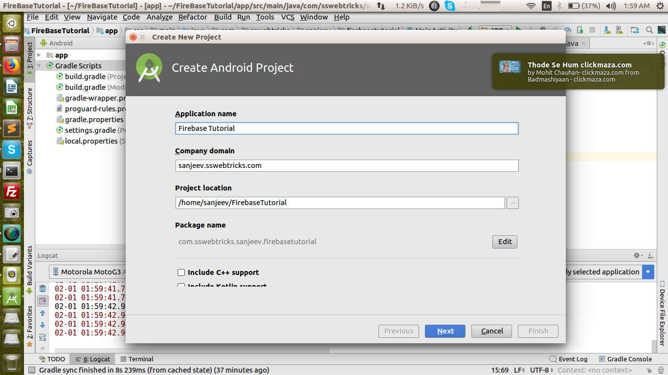 Android Firebase Messaging - Web Development and Design