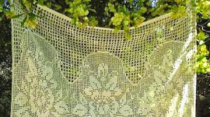 10 patrones de cortinas para tejer con técnica de crochet filet