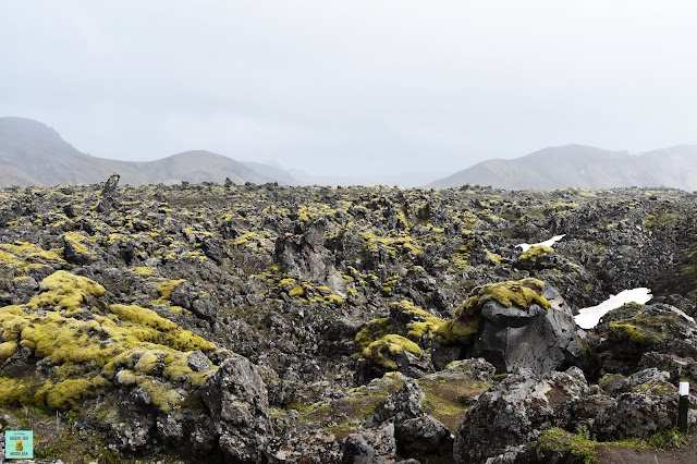 Campo de lava Laugahraun en Landmannalaugar, Islandia