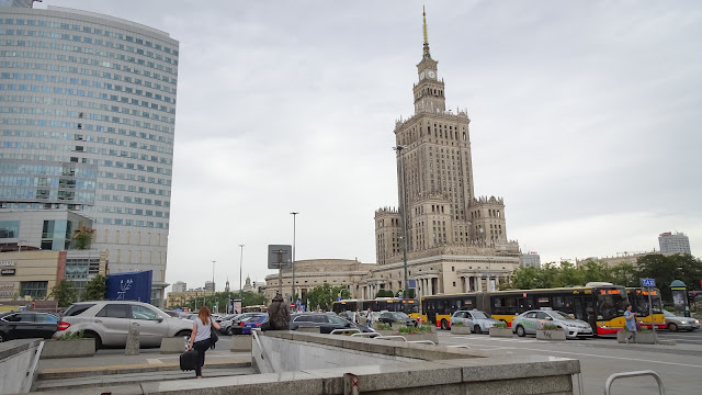 The first view when arriving in Warsaw from the airport with train. The Palace of Culture and Science.