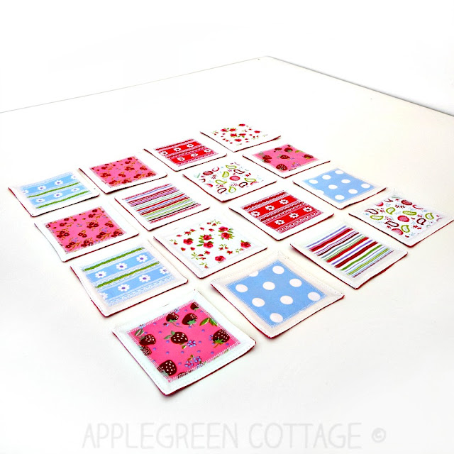 A DIY fabric memory game is a fun and easy-to-sew DIY game for kids and adults alike. You can make your own if you know how to sew a straight line! Grab a few fabric craps and go for this easy beginner sewing project! Makes a great DIY birthday present, stocking stuffer or party favor.