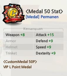 Saran Stat Medal untuk Samurai