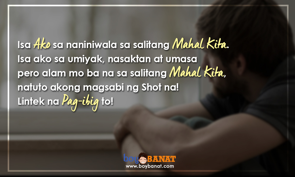 List Of Tagalog Bitter Love Quotes For Valentines Day Boy Banat