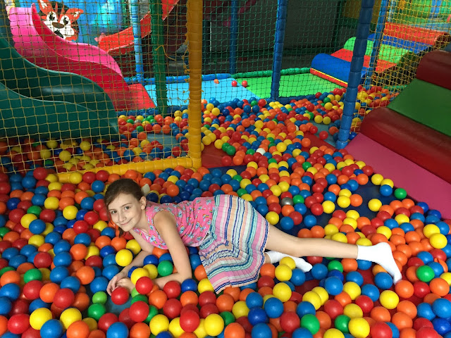Sasha in a ball pit